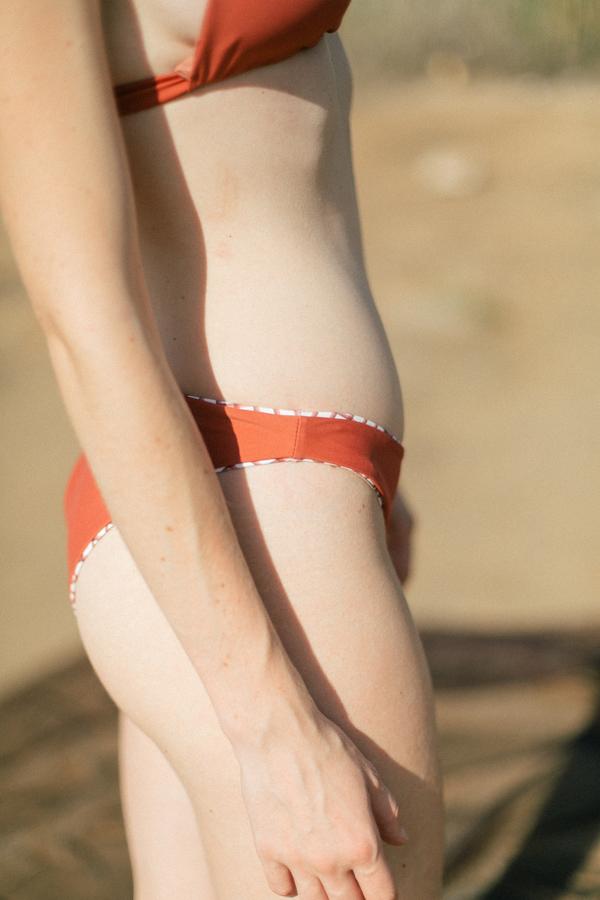 clō stories Simone reversible medium rise bikini - Checks