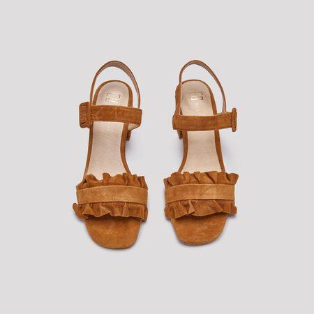 Sandie Suede Sandals - Apricot