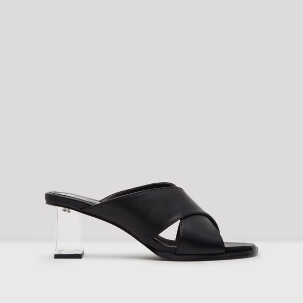 Miista Paloma Leather Mules - Black