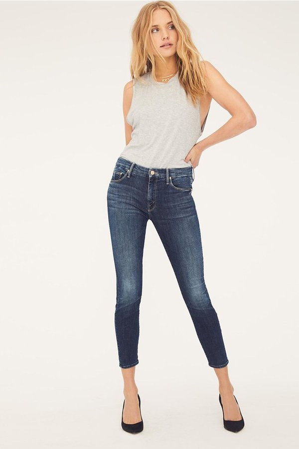 Mother Denim Looker Crop Jeans - On The Edge