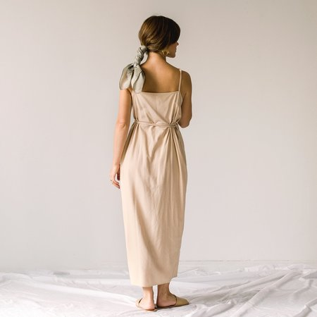 Ozma Palma Wrap Dress - Conch
