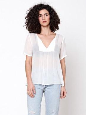 Lacausa White Wash Fling Top
