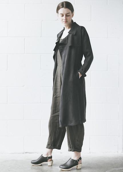 Line Knitwear Julia Coat in Caviar