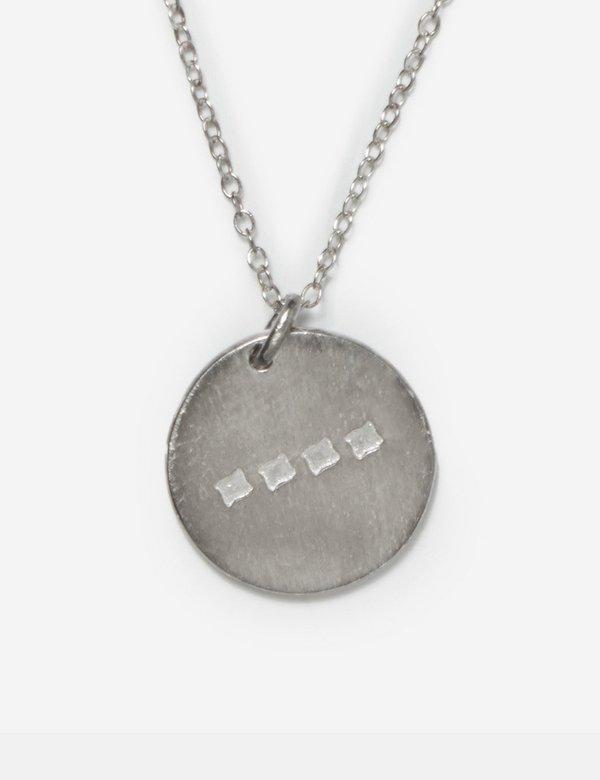SCRT Pendant - Brushed Silver 925