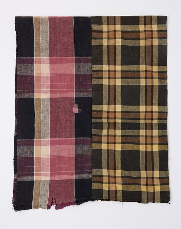 Vintage Oversized Scarf - Yellow/Pink Madras