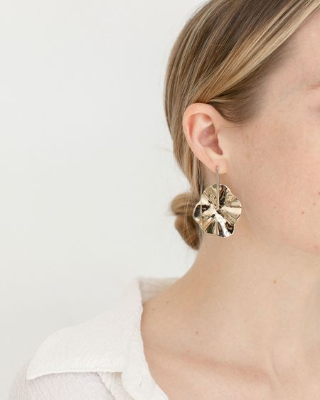 Faeber Studio Freya Drop Earrings - Brass