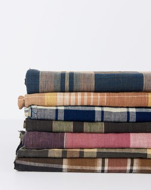 Vintage Oversized Scarf - Clay Madras
