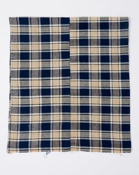 Vintage Oversized Scarf - Dark Indigo Madras