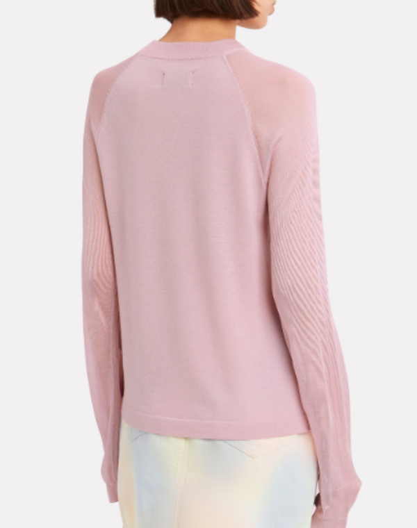 RtA TELLER LONG SLEEVE SWEATER - PINK PEARL