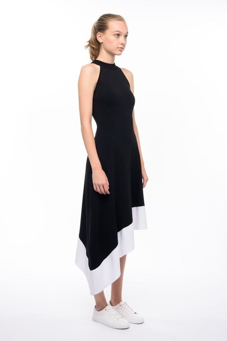 John + Jenn ROMAN DRESS - Black/White