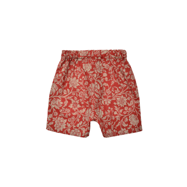 unisex kids East End Highlanders Resort Short - Red Floral