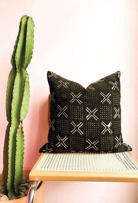 San Junipero Textile Studio Mojave Aster Pillow Cover - Black/Tan