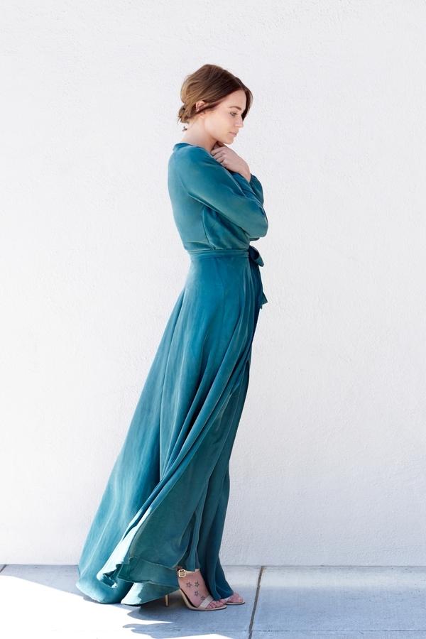 Kamperett Linden Silk Wrap Dress Juniper Garmentory