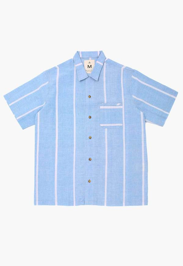 Deshal Lungi Box Button Down - Blue