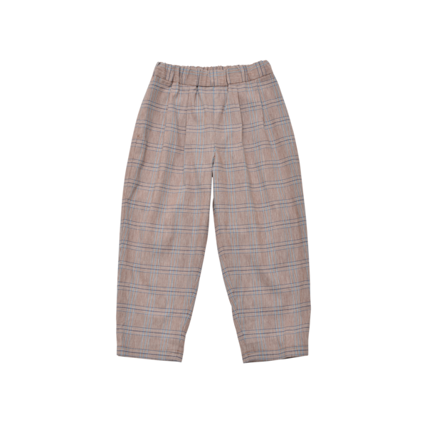 KIDS East End Highlanders Lounge Trouser - Brown Plaid