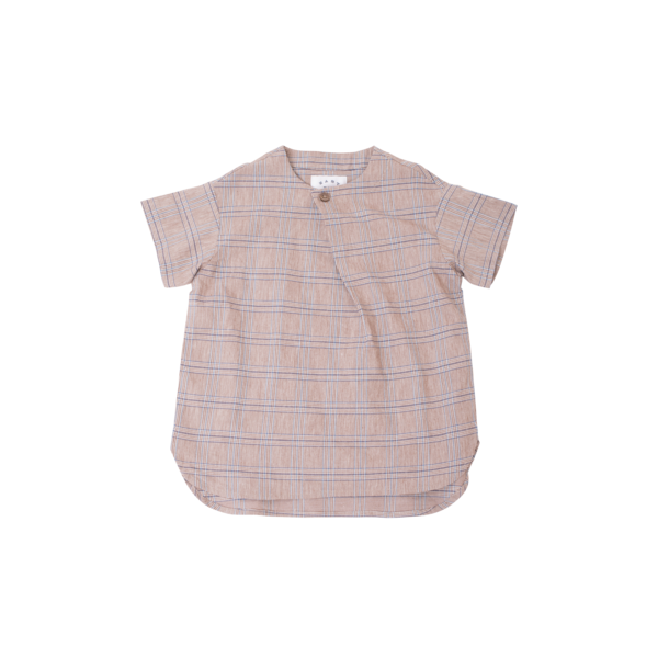 unisex kids East End Highlanders Skew Shirt - Brown Plaid