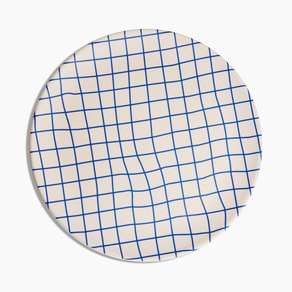 Poketo Bamboo Dinner Plates Set - Grid