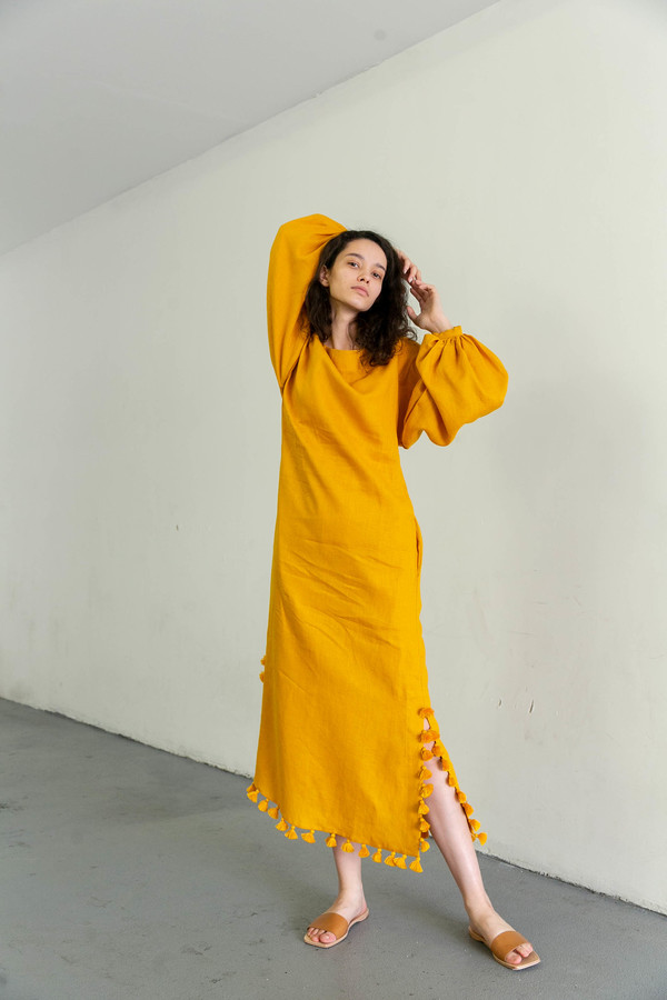 MARCH 11 CARLA MAXI DRESS - YELLOW