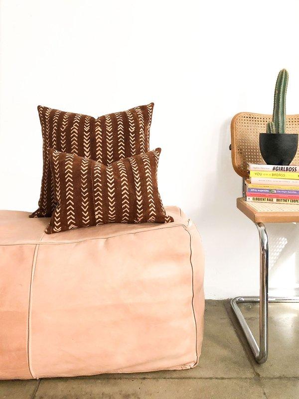 San Junipero Textile Studio Dark Coyote Pillow Cover - Red Rust