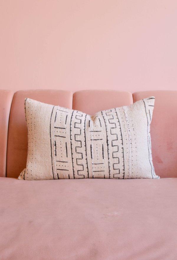 San Junipero Textile Studio Ghostflower Pillow Cover - Off White