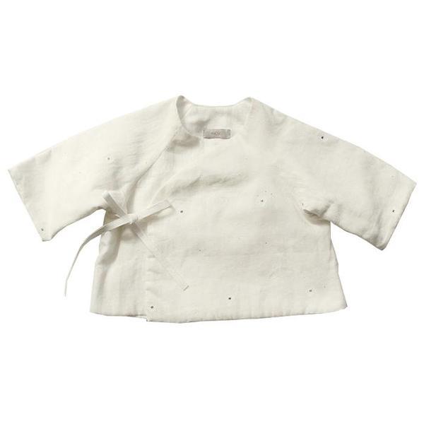 Kids Makié Mille Jacket - Cream/Blue Dots