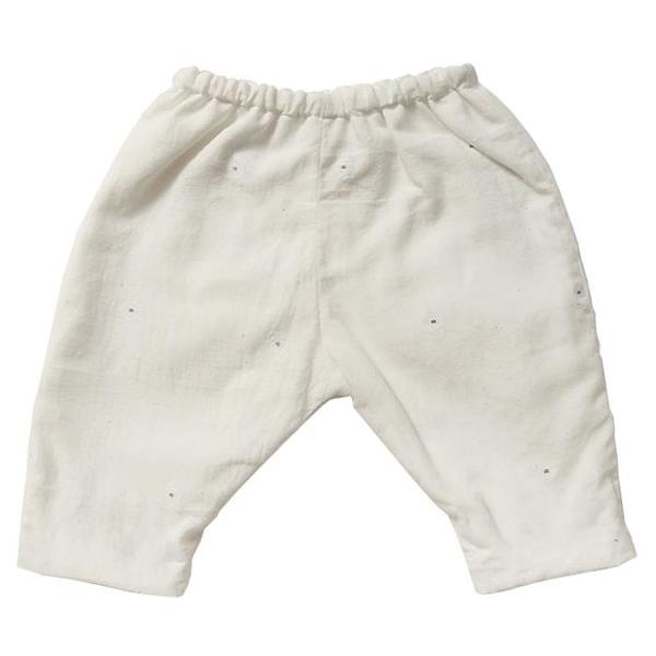 Kids Makié Mille Pants - Cream/Blue Dots