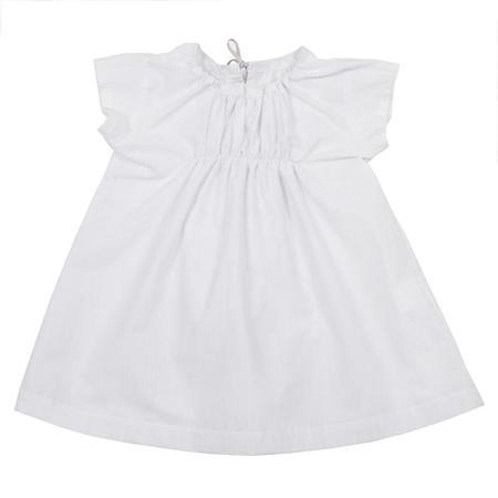 KIDS Makié Remi Dress - White/Grey Pinstripes