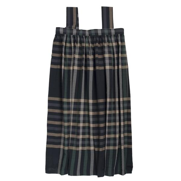 Makié Hope Dress - Black/Green Plaid