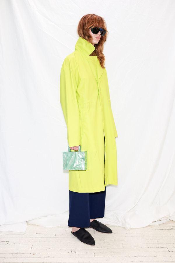 009bbe4c Rains LTD Curve Coat - Neon Yellow   Garmentory