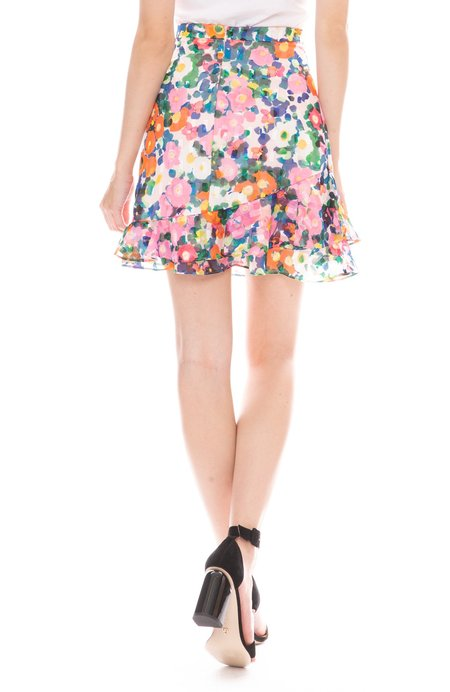 Saloni Cece Skirt - Pink Rosette
