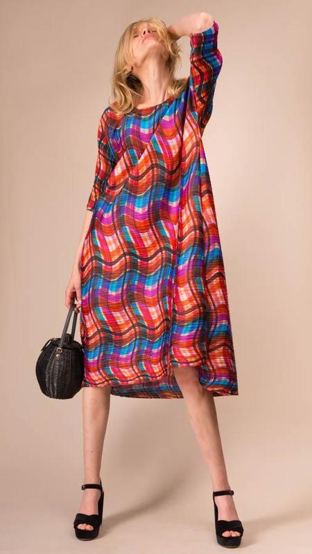 Pleats Please Issey Miyake Stratum Bounce Dress - Orange