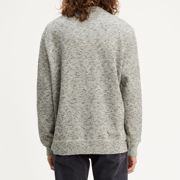 Levi's Made & Crafted Fleece Crew - Geo Terry Grey