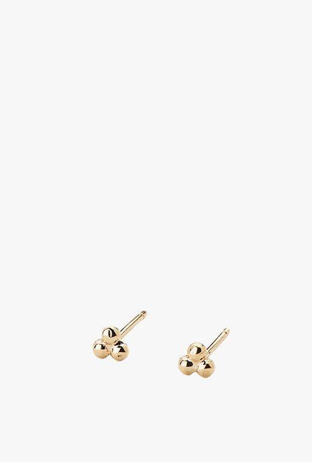 Jennie Kwon Designs Cluster Stud Earring Single - 14k yellow gold