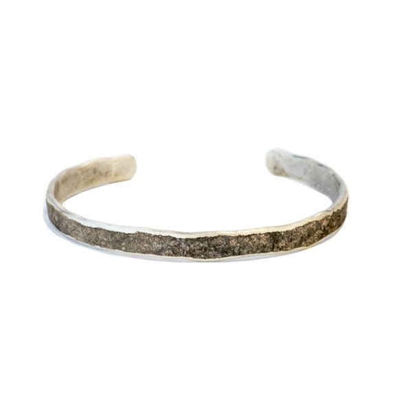 Cause and Effect Oxidized Sterling Cuff - Sterling silver