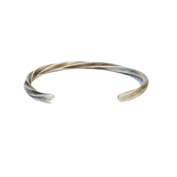 Cause and Effect Twisted Sterling Cuff - Sterling silver
