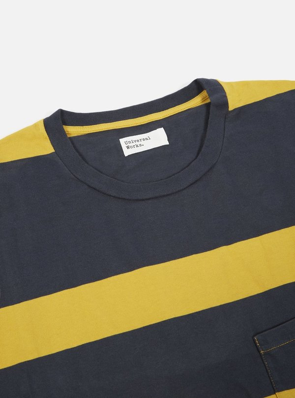 Universal Works Heavy Jersey Long Sleeve Tee - Sunshine Stripe