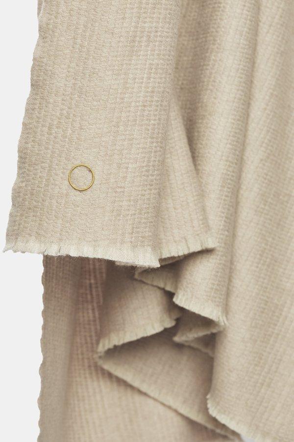 Oyuna Kiko Cashmere Textured Woven Cashmere Throw - Blush