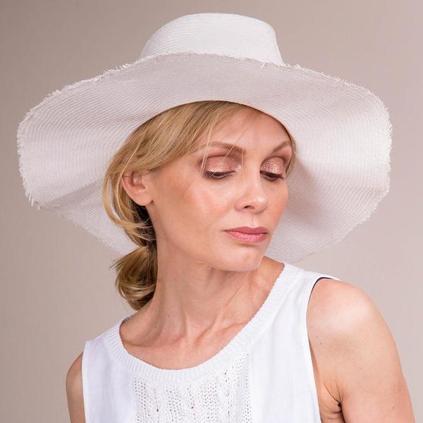 Reinhard Plank Handmade Straw Hat - White