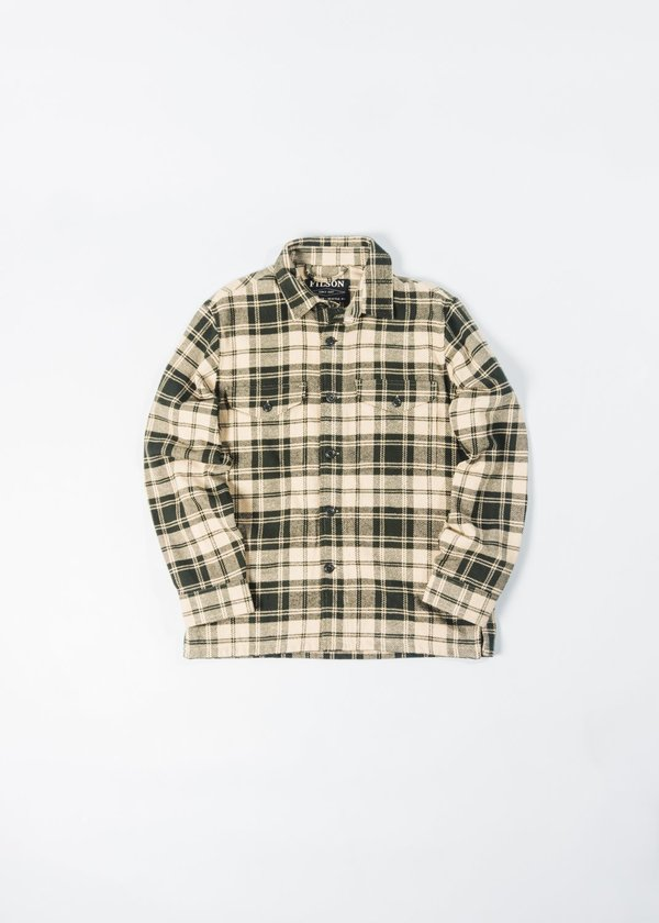 FILSON DEER ISLAND JACK SHIRT - GREEN PLAID