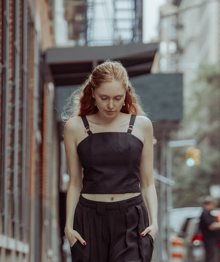 INGA-LENA The Abby Top - Ink Black