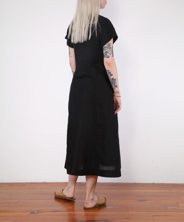 Micaela Greg Knotted Dress - black