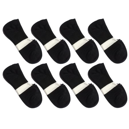 Necessary Anywhere Everyday + Laundry Day No-Show - Black (8 Pack)