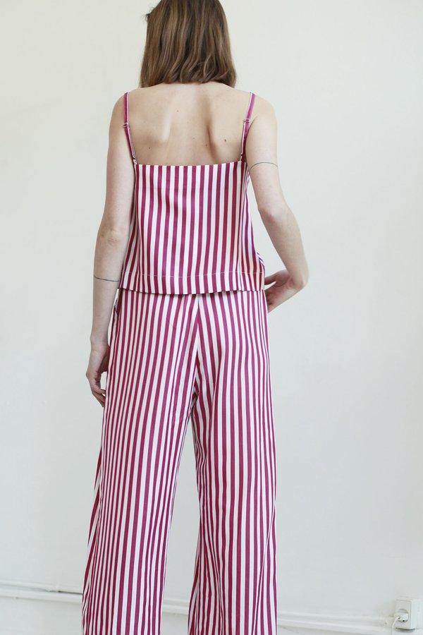 Mr. Larkin sille top - berry stripe