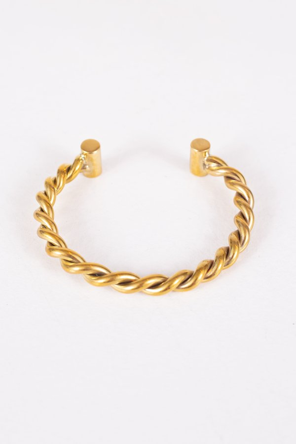Maple House Bangle - Brass