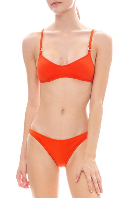 Solid and Striped Rachel Solid Bikini Top - Portland Red