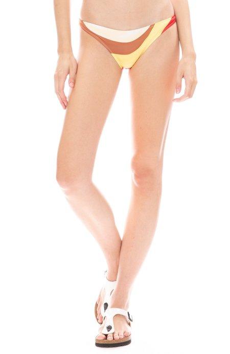 Solid and Striped Rachel Striped Bikini Bottom - Wave