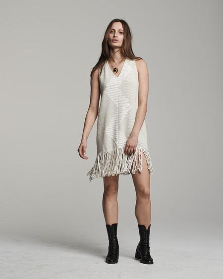 VOZ Zig Zag Dress - Beige