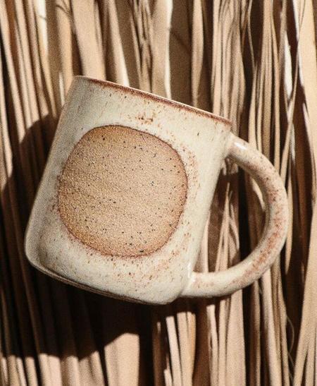Easy To Breathe Ceramic Moon Mug - Chai