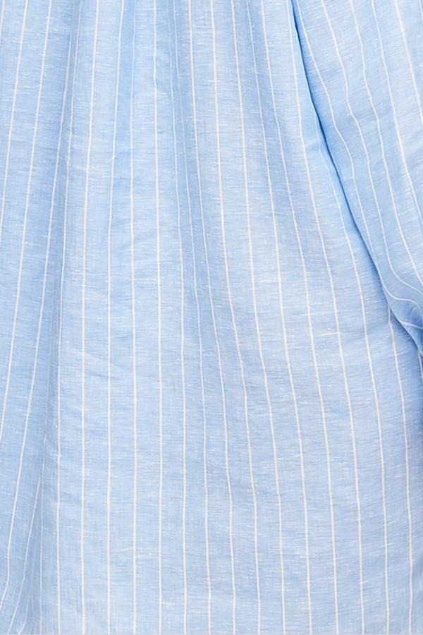 The Sleep Shirt Short Sleep Shirt - Como Stripe Linen