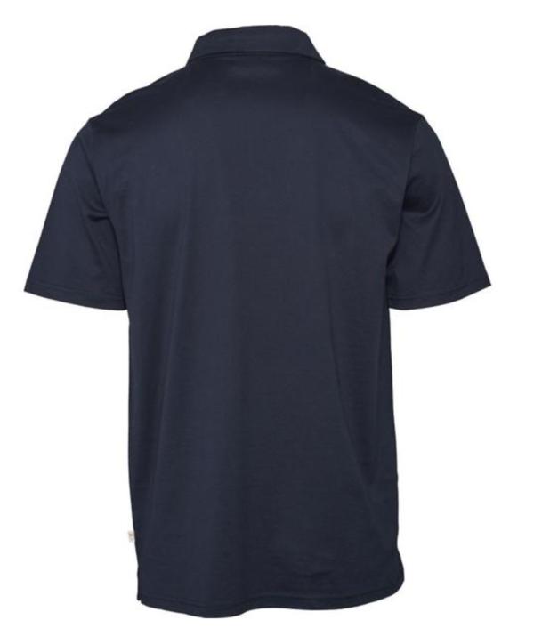 knowledge cotton apparel mercerized organic cotton Polo Shirt - navy